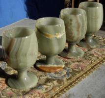 4 jade trink becher pokale