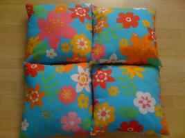 4 schöne Kissen mit Blumen von Trends (Ostermann) wie NEU NP 24€