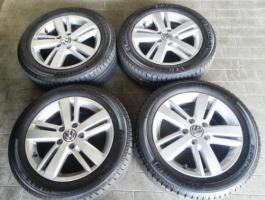 Foto 4 4 x Original VW Stratford Alu Felgen neuwertig, mit Michelin Energy Saver 205/55 R16 Profil 7,5 mm