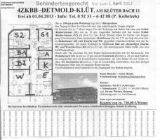 4ZKBB BEHINDERTENGERECHT DETMOLD-KLÜT