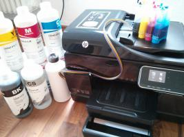 4,4 Liter Farbe + CISS + 2.Fach + HP Officejet Pro 8500A - A910a