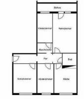 4  Raum -Wohnung