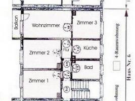 4 - Raumwohnung in Naumburg zu vermieten