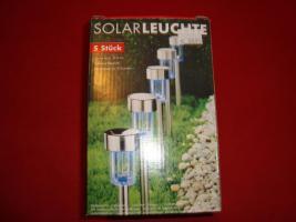 5 Edelstahl-Solarleuchten