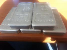 Foto 2 5 x 1 kg METALOR 999 Feinsilber Bars