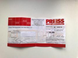 50 € Gutschein für Möbel Preiss
