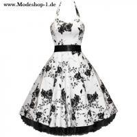 50-er Rockabilly Kleid in Schwarz Weiss
