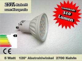 5,0W GU10 E14 E27 Sockellampe 120° SMD / LED WOW Angebot Energiesparlampe