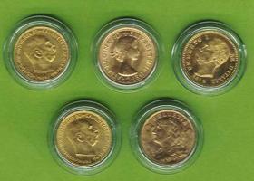 5x Gold TOP STÜCKE Münze Goldmünze coins
