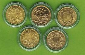 Foto 2 5x Gold TOP STÜCKE Münze Goldmünze coins