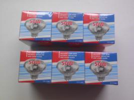 6 Halogenlampen, 50 Watt