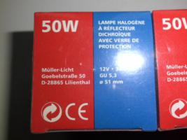 Foto 3 6 Halogenlampen, 50 Watt