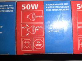 Foto 4 6 Halogenlampen, 50 Watt