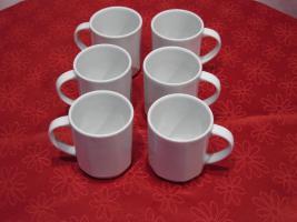 6 Kaffeebecher, Kaffeetassen, 200ml, neu