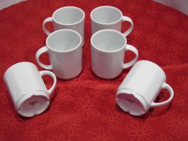 Foto 2 6 Kaffeebecher, Kaffeetassen, 200ml, neu