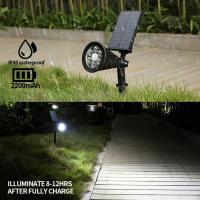 Foto 6 6 LEDs Solarleuchte solar Spotlight Wasserdicht Gartenleuchte, Solar Außenleuchte, Garten Deko