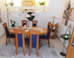 Foto 2 6 Massive Erle-Stühle mit hochwertigem Alcantara-Bezug