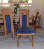 Foto 3 6 Massive Erle-Stühle mit hochwertigem Alcantara-Bezug