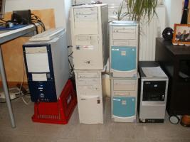 Foto 8 6 PC´s Computer Rechner zu verkaufen - 2- 3 GHz  1 GB Arbeitsspeicher - 120 GB Platte
