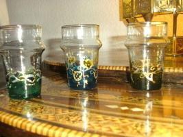 Foto 2 6 Wunderschöne mundgeblasene Gläser aus echter Handarbeit.