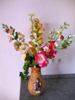 6 edele, naturgetreue Seidenblumen