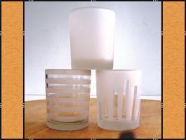 60 Votivgläser, Teelichthalter in verschiedenen Designs