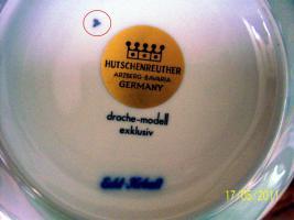 Foto 2 6er komplett Ess-u. Kaffeeservice Hutschenreuther Bavaria Germany Kobald, Gold, Platin-Rand