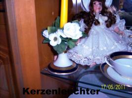 Foto 10 6er komplett Ess-u. Kaffeeservice Hutschenreuther Bavaria Germany Kobald, Gold, Platin-Rand