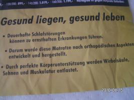 7-Zonen Allergiker Tonnenfaschenfederkernmatratze 140/200