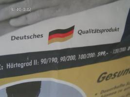 Foto 4 7-Zonen Allergiker Tonnenfaschenfederkernmatratze 140/200