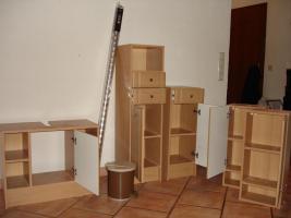 Foto 2 7 teiliges Badmöbel Set / buche plus weiteres Zubehör