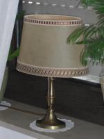Foto 3 70er Jahre - Set 1 bronzene Stehlampe   2 Tischlampen