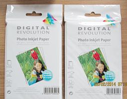 8 x 25 Blatt Fotopapier glänzend 180g DIGITAL REVOLUTION Photo Inkjet Paper OVP