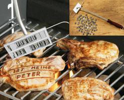 90 tlg. Grill BBQ - Brandeisen - set