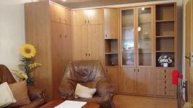 Wohnzimmer mit Schranklappbett