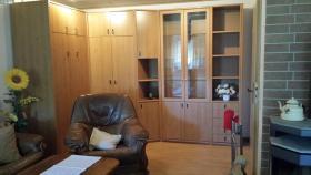 Wohnzimmer mit Schrankklappbett