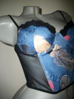 Foto 2 +♥+ Corsagen Top +♥+ Jeans Optik + 75/80B + wie neu