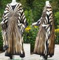 ♥Kaftan♥ Schmetterling Zebra goldbraun neu ♥Kleid♥48/50/52/54 XXL