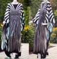 ♥Kaftan♥ Schmetterling Zebra bleue*blau neu ♥Kleid♥48/50/52/54 XXL