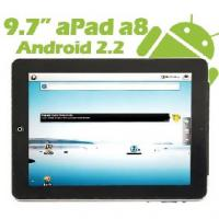 9.7 Zoll Apad A8 Tablet PC - Android 2.2 Froyo - MultiTouch LCD (APAD A8 KAPAZITIV) mit Android 2.2 Betriebssysstem.