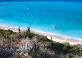 A fine waterfront plot of land located on the isl. of Lefkada
