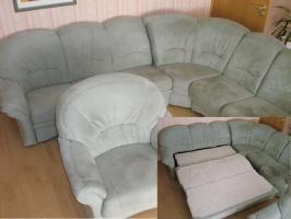 'AB HEUTE moderne Couch mit Ecke, Sessel, Schlaffunktion und MEHR'