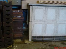 AEG Nachtspeicherofen 4kw asbestfrei mit Kachelverkleidung und Marmorplatte