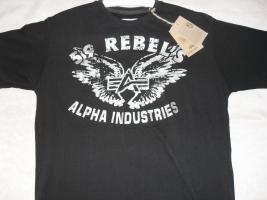 ALPHA INDUSTRIES T-SHIRT ''REBEL T'' (NEU!!)