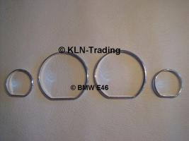 Foto 3 ALU Tachoringe für BMW e46 (4 Ringe)