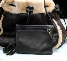 Foto 2 APART - Luxus Lammfell-Leder-Tasche schwarz - OVP - NEU