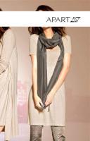 Foto 2 APART - Luxus-Schal mit Lederfransen oliv - OVP - NEU