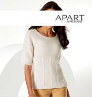 APART - Pullover mit Zopfmustern creme Gr. 32 - OVP - NEU