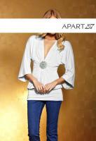 APART - Shirt mit Strass-Brosche weiß Gr. 38 - OVP - NEU