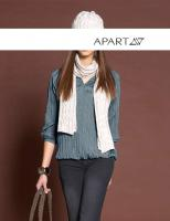 APART - Taft-Bluse rauchblau Gr. 42 - OVP - NEU